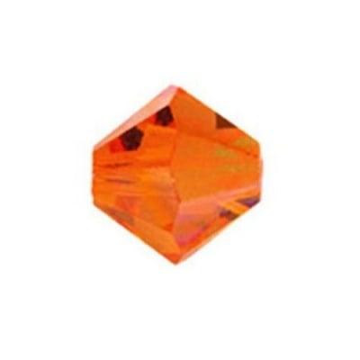 Мънисто Чешки кристал 5.7x6 мм цвят дупка 1 мм цвят изгрев -12 броя