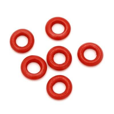 Халка дърво червена 15x4 мм дупка 7 мм червена -20 грама ~60 броя