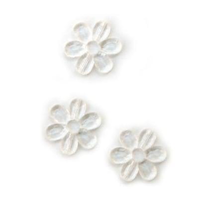 Кристал цвете прозрачно 33мм. -50гр.