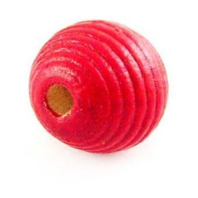 Топче дърво абак 20 мм червено -50 грама ~21 броя