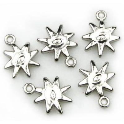 Висулка CCB звезда 15х19 мм. дупка 2 мм. - 20 грама ~ 56 броя