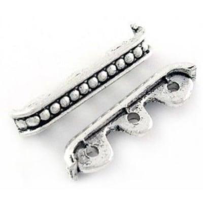 Разделител метал 4x24x6 мм дупка 1.5 мм цвят сребро -10 броя