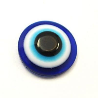 Око синьо полусфера 8х4 мм за лепене -50 броя