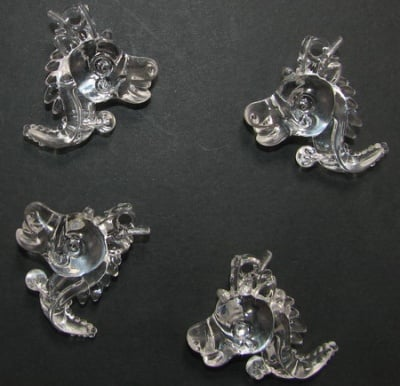 Фигурка дракон 34 мм прозрачна -10 броя