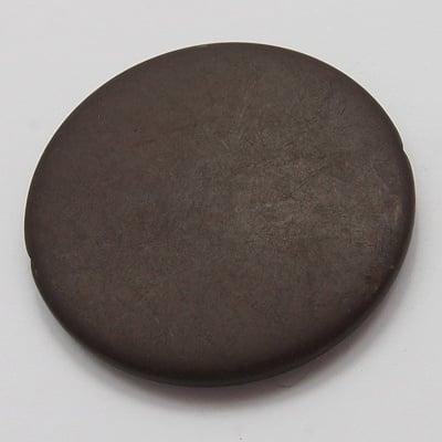 Мънисто имитация дърво матирано паричка 25x5.5 мм дупка 2 мм кафяво -50 грама ~ 13 броя