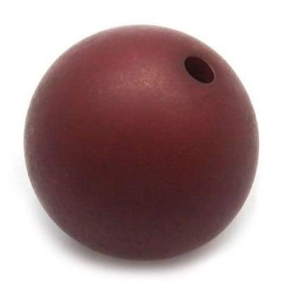 Мънисто имитация дърво топче 16 мм дупка 3 мм кафяво -50 гр ~ 22 броя