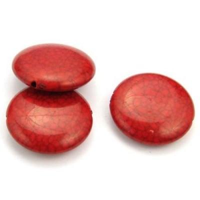 Паричка 30 мм. имитация тюркоаз червена - 50 грама