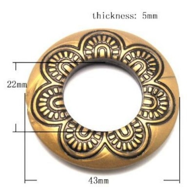 Мънисто Антик 48х8 мм античен бронз -50 грама ~10 броя
