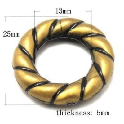 Мънисто Антик 48х8 мм античен бронз -50 грама ~39 броя