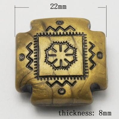 Мънисто Антик 48х8 мм античен бронз -52 грама ~17 броя