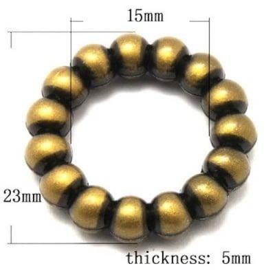Мънисто Антик 23х15х5 мм античен бронз -50 грама ~53 броя