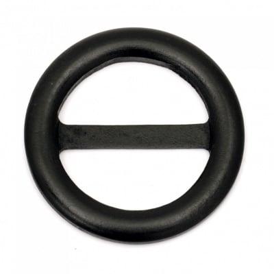 Тока за колан дървена 75x7 мм дупка 49x22 мм цвят черен