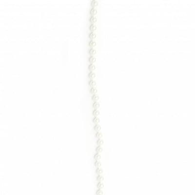 Гирлянд с перла пластмаса 5 мм цвят бял -1 метър