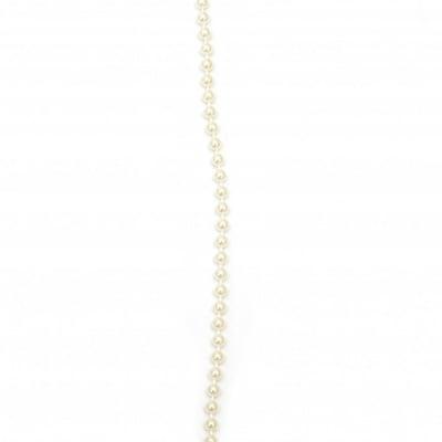 Гирлянд с перла пластмаса 5 мм цвят крем - 1 метър