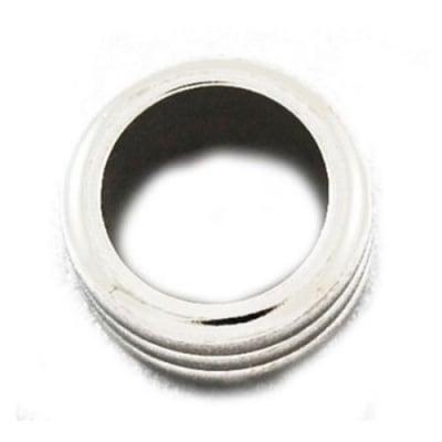 Мънисто CCB пръстен 18x10 мм дупка 12 мм цвят сребро -10 броя ~13 грама