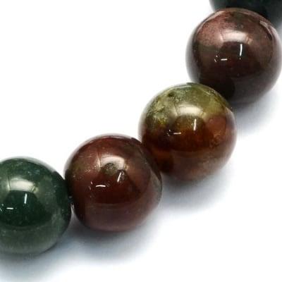 Наниз мъниста полускъпоценен камък АХАТ ИНДИЙСКИ топче 10.5 мм ~36 броя