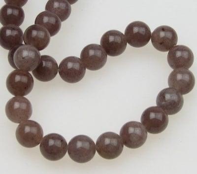 Наниз мъниста полускъпоценен камък АВАНТЮРИН ЛИЛАВ топче 8 мм ~50 броя
