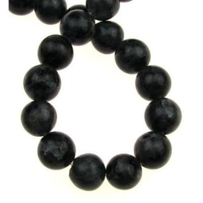 Наниз мъниста полускъпоценен камък ЛАБРАДОРИТ Норвегия топче 10 мм ~40 броя