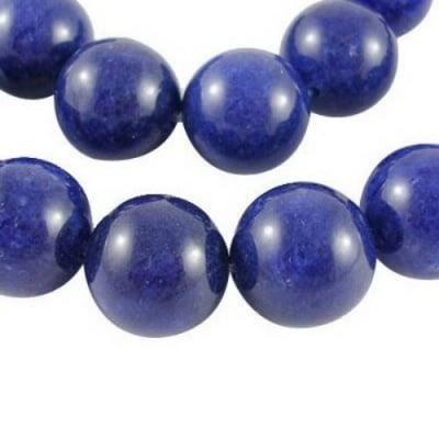 Наниз мъниста полускъпоценен камък ЛАЗУРИТ ЛАПИС топче 6 мм ~24 броя