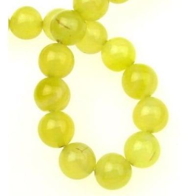 Наниз мъниста полускъпоценен камък АХАТ жълт топче 10 мм ~38 броя