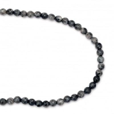 Наниз мъниста полускъпоценен камък ЛАБРАДОРИТ топче фасетирано 6 мм ~62 броя
