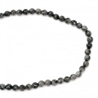 Наниз мъниста полускъпоценен камък ЛАБРАДОРИТ топче фасетирано 8 мм ~48 броя