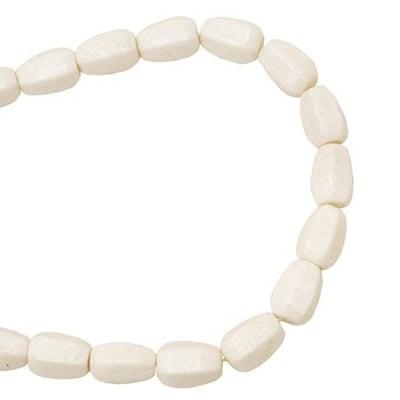 Наниз мъниста полускъпоценен камък КОРАЛ бял 21x15 мм ~18 броя