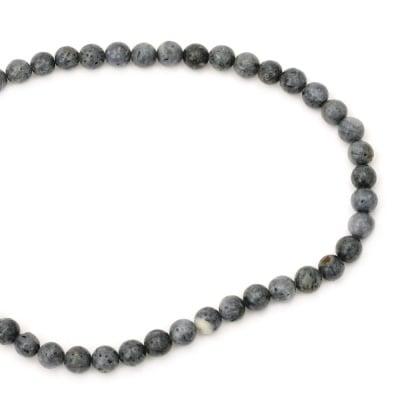 Наниз мъниста полускъпоценен камък КОРАЛ син топче 8 мм ~48 броя