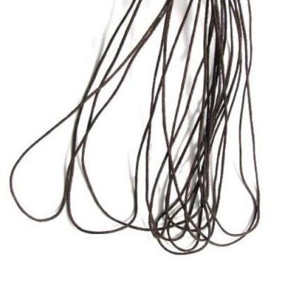 Шнур памук колосан 1 мм кафяв тъмно ~80 метра