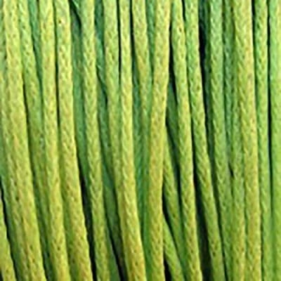 Шнур памук колосан 1 мм зелен светло~86 метра
