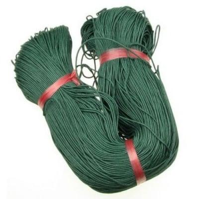 Шнур памук колосан 1.5 мм зелен тъмен ~80 метра