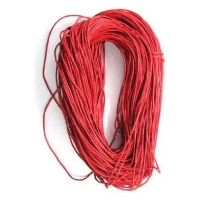 Шнур памук колосан 1.5 мм червен ~86 метра