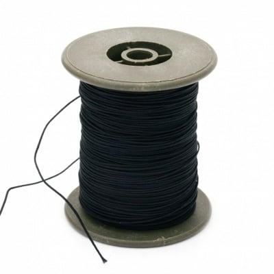 Шнур полиестер с основа корда 0.8 мм черен ~100 метра