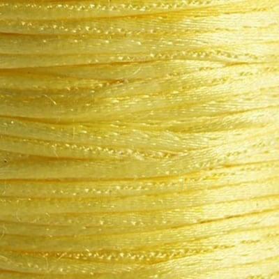 Шнур полиамид лъскав 1 мм жълт -10 метра