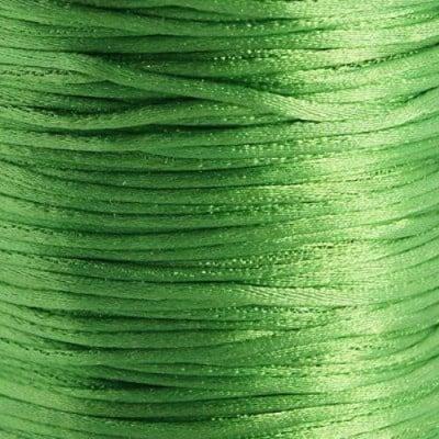 Шнур полиамид лъскав 1 мм зелен -10 метра
