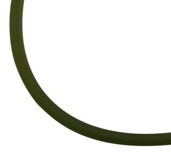 Шнур силикон матиран 2 мм тъмно зелен -5 метра