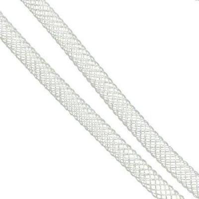 Шнур мрежест тръбичка 4 мм бял -6 метра