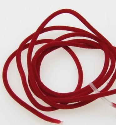 Силиконова тръбичка кадифе 2.3 мм дупка 1.5 мм червена -5 метра