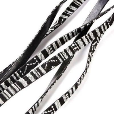 Шнур текстил и изкуствена кожа плосък 10x2 мм -1 метър