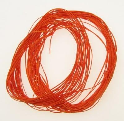 Шнур памук с восък 1x0.4 мм оранжев -20 метра