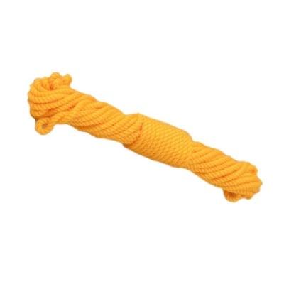 Шнур памук 1 мм 6 ката оранжев -2 метра