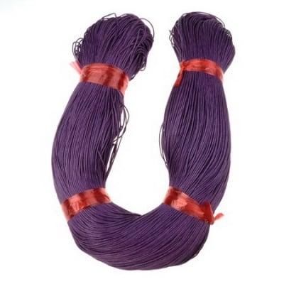 Шнур памук колосан 0.7 мм лилав тъмен ~78 метра