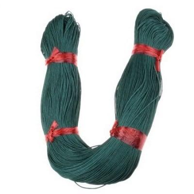 Шнур памук колосан 0.7 мм зелен тъмно ~78 метра