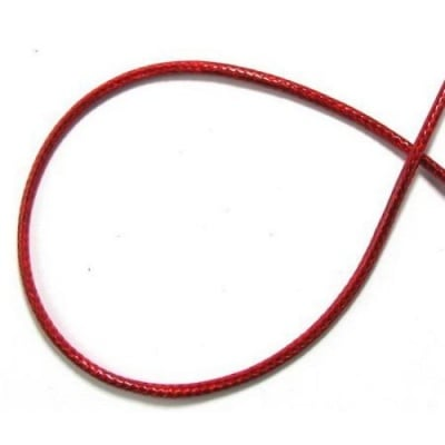 Шнур памук Корея 3 мм червен -91 метра