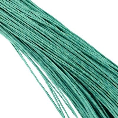 Шнур памук колосан 1 мм тюркоаз светъл ~80 метра