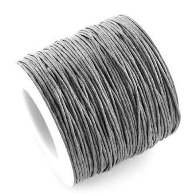 Шнур памук колосан 1 мм сив -84 метра