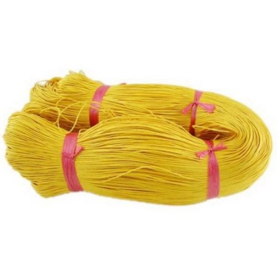 Шнур памук колосан 1.5 мм жълт ~80 метра