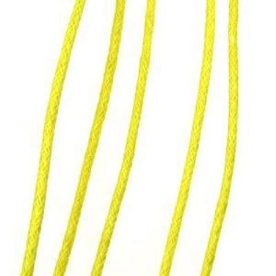 Шнур памук колосан 2 мм жълт ~80 метра