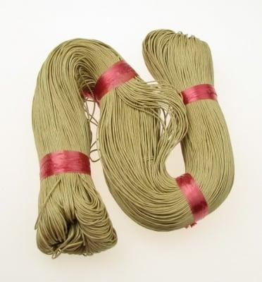 Шнур памук колосан 0.7 мм бежов тъмен ~78 метра