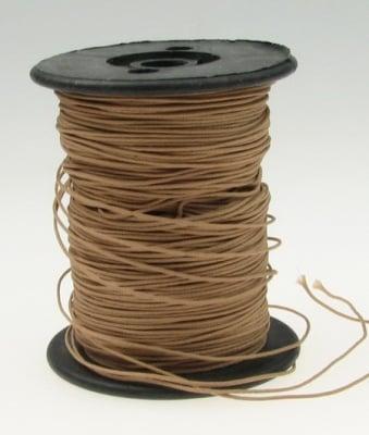 Шнур полиестер с основа корда 0.8 мм кафяв светло ~100 метра